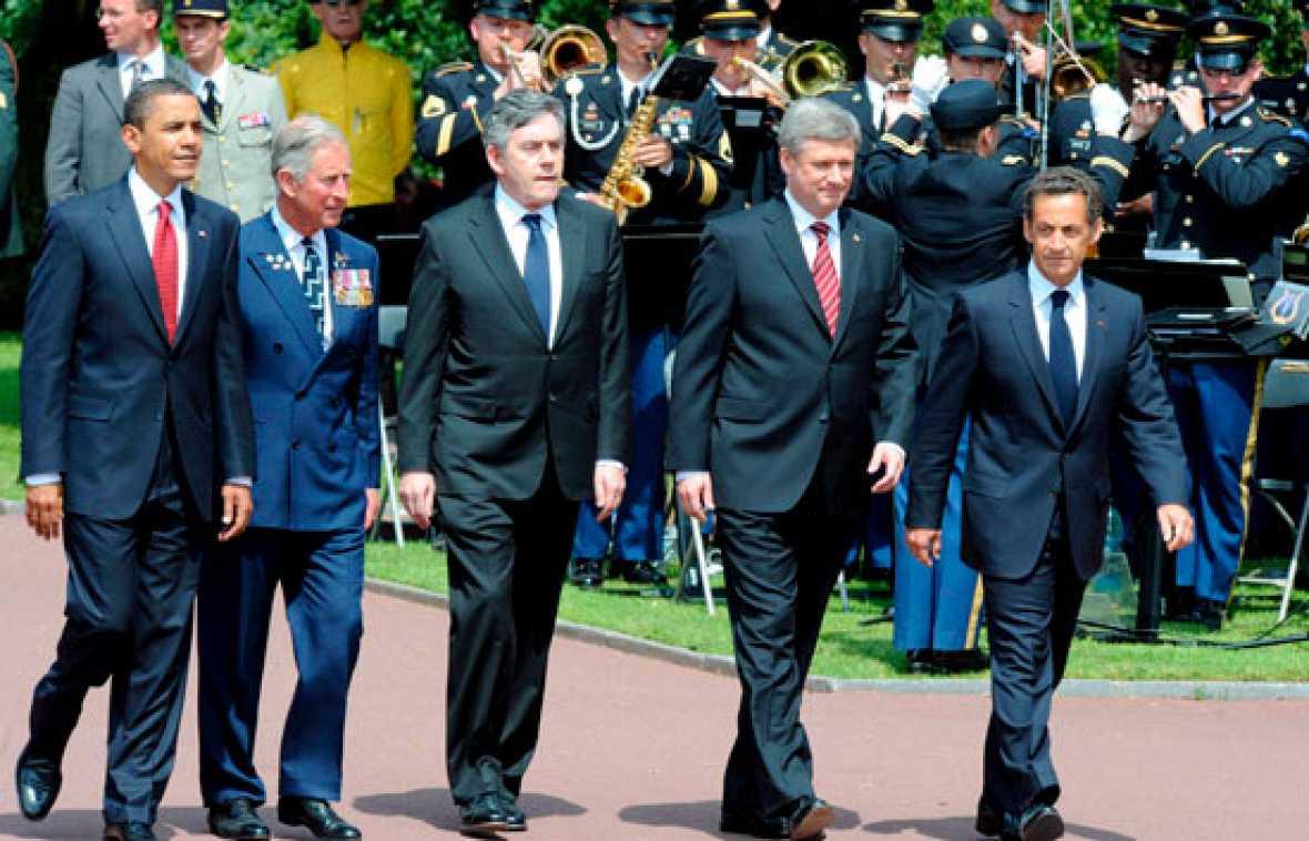Obama y Sarkozy conmemoran el Desembarco de Normandía
