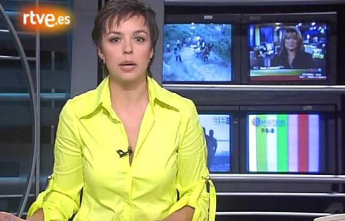 Los comienzos de Cristina Villanueva en 'La2 Noticias' (octubre 2004)