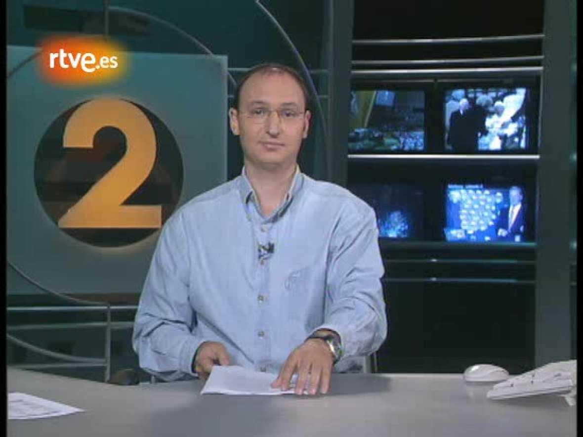 Los comienzos de Fran Llorente en La 2 Noticias. Fran, ahora director de servicios informativos de TVE, sustituyó a Lorenzo Milá en 2003.
