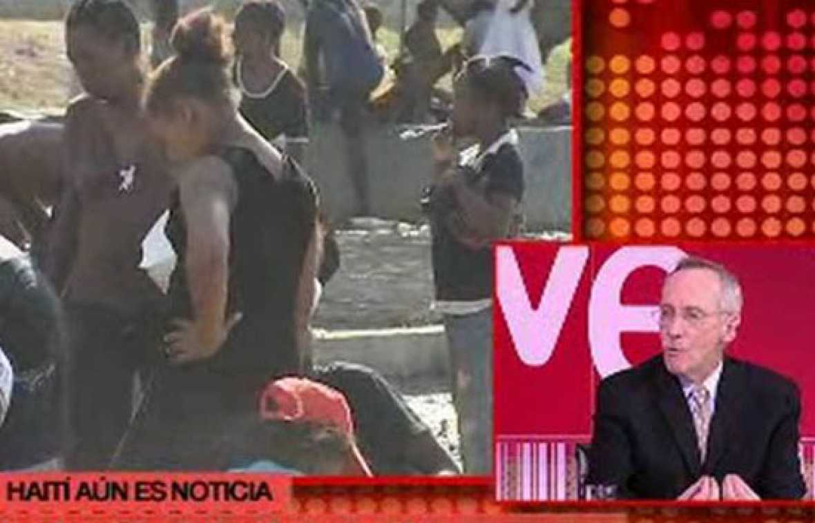 El jefe de la misión de estabilización de la ONU en Haití, Edmund Olmet, valora la situación de Haití un mes después del terremoto en una entrevista para el programa A fondo del canal 24 horas de TVE (18/02/2010).