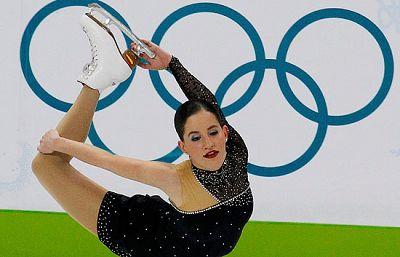La española Sonia Lafuente fue la primera patinadora en la clasificación para la final de Patinaje Artístico Individual Femenino.