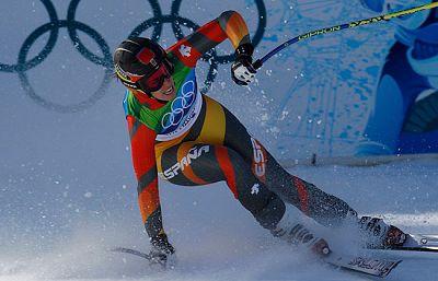 Discreto papel de las esquiadoras españolas en la segunda manga del gigante femenino.