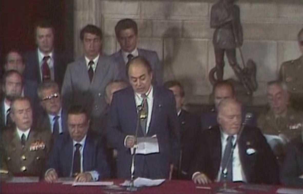 Presa de possesió de Jordi Pujol com a president de la Generalitat el 1980