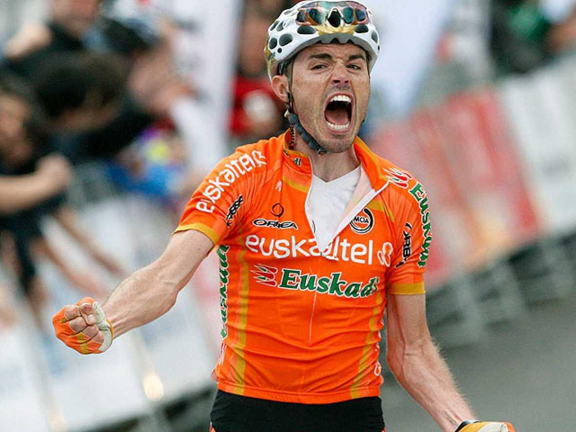 El ciclista asturiano del Euskaltel Samuel Sánchez, se ha hecho con la cuarta etapa de la Vuelta al País Vasco, con llegada en Arrate.