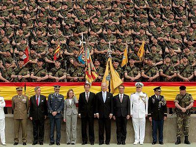 Joe Biden con las tropas españolas