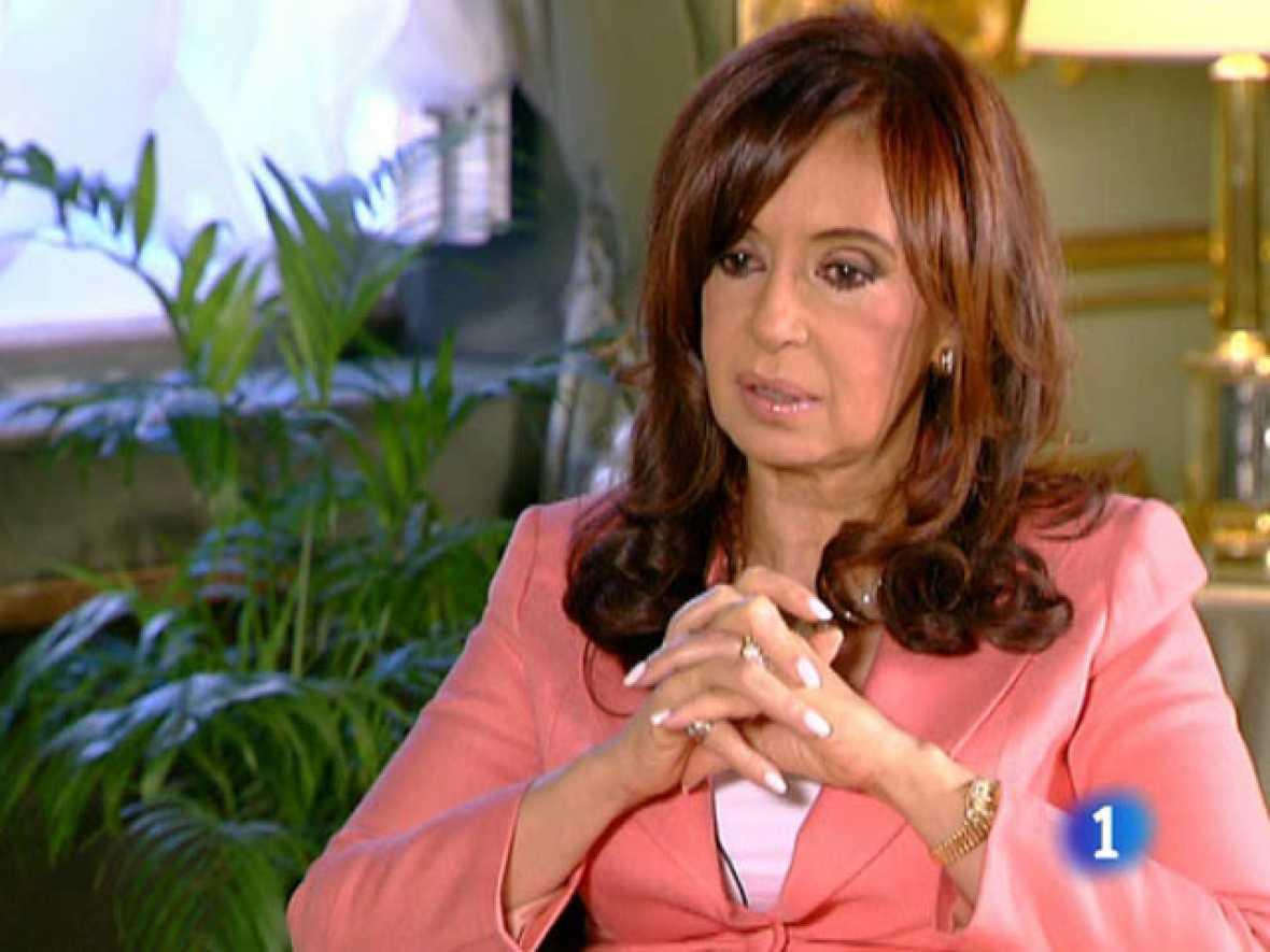 Cristina Kirchner en los Desayunos de TVE