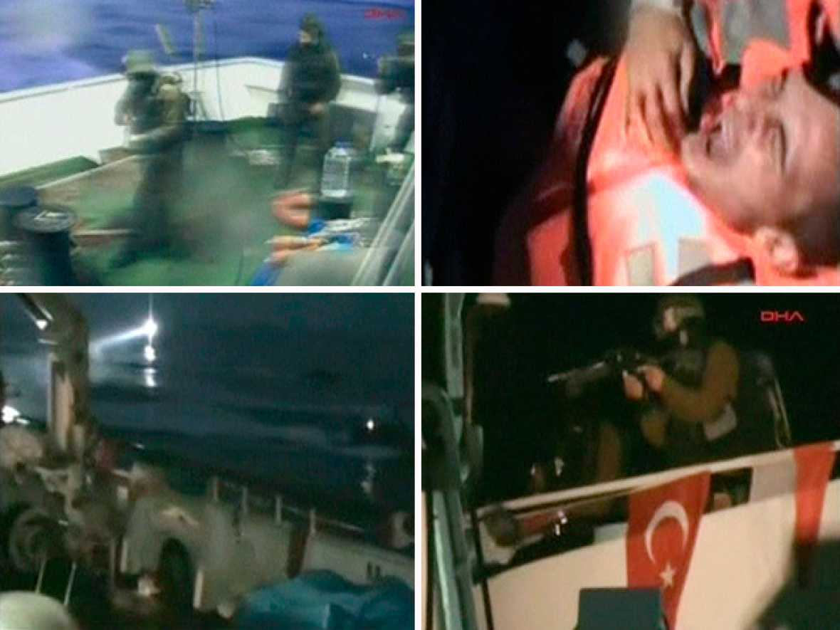 Al menos 10 muertos y decenas de heridos en el asalto israelí a la 'Flotilla de la Libertad'