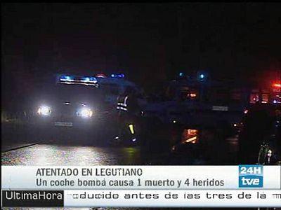 Las primeras imágenes del atentado de Legutiano.