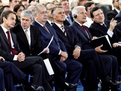 Portugal y España han celebrado en Lisboa el 25 aniversario de su adhesión a la Unión Europea.