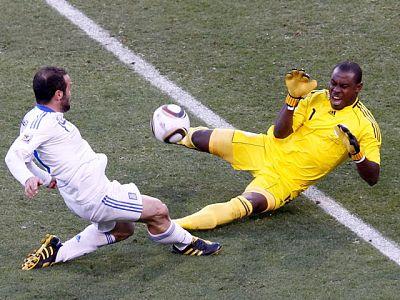La selección de fútbol de Grecia ha conseguido la primera victoria de su equipo en un Mundial.