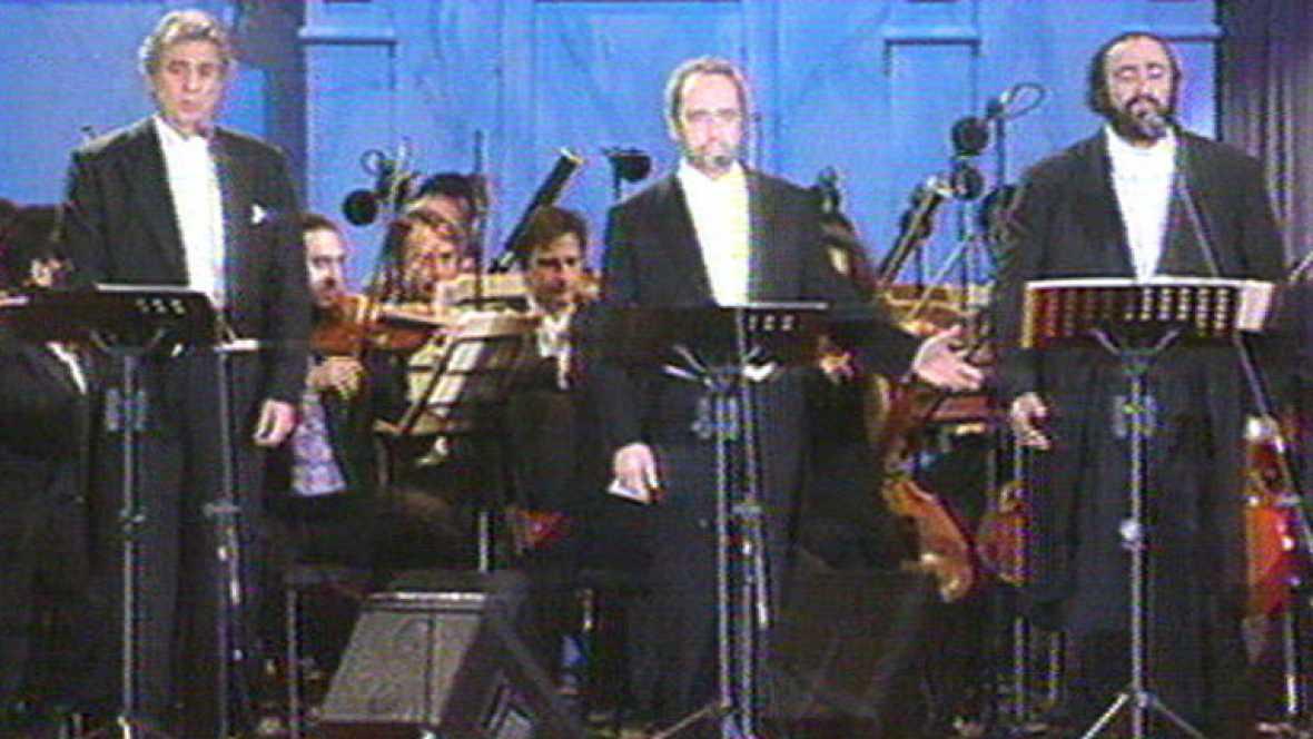 """""""Los tres tenores"""" en 1990"""