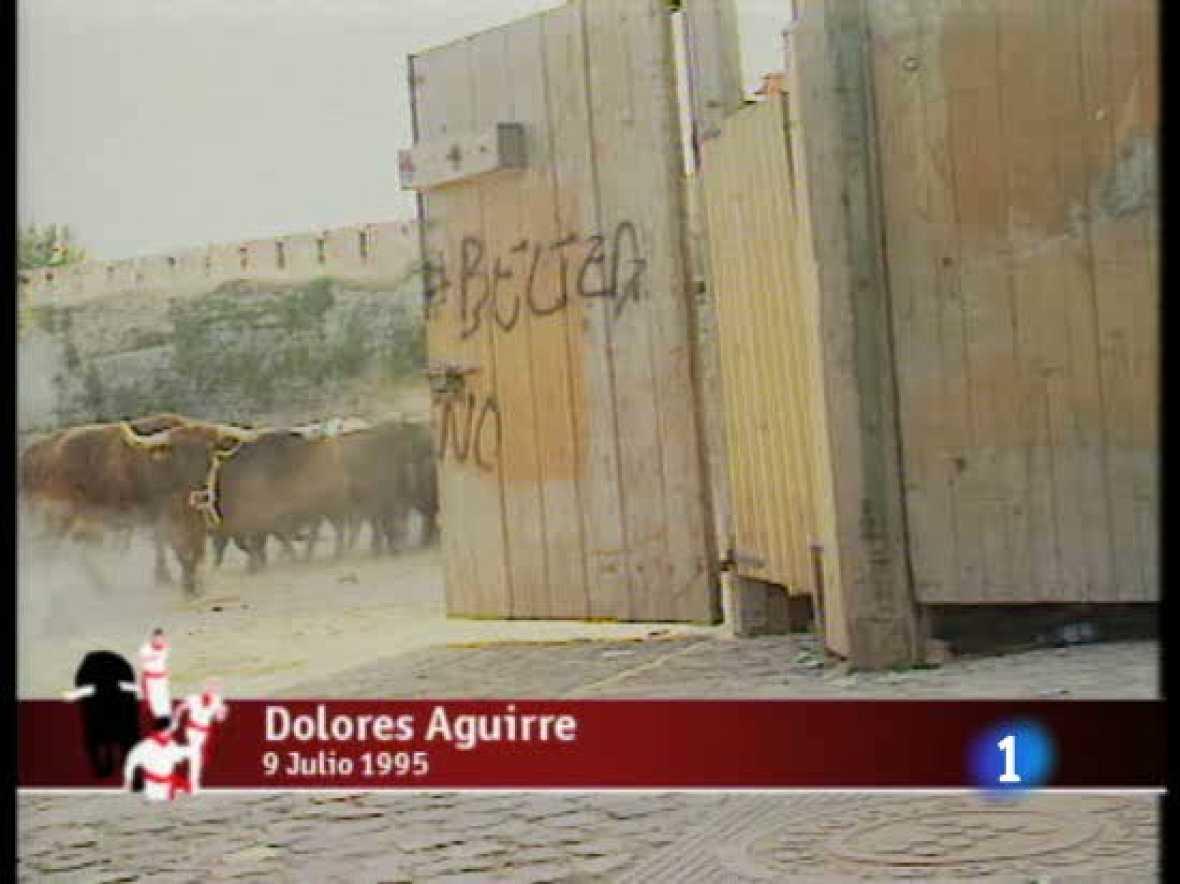 Anterior encierro en Sanfermines de la Ganadería Dolores Aguirre, el 9 de julio de 1995
