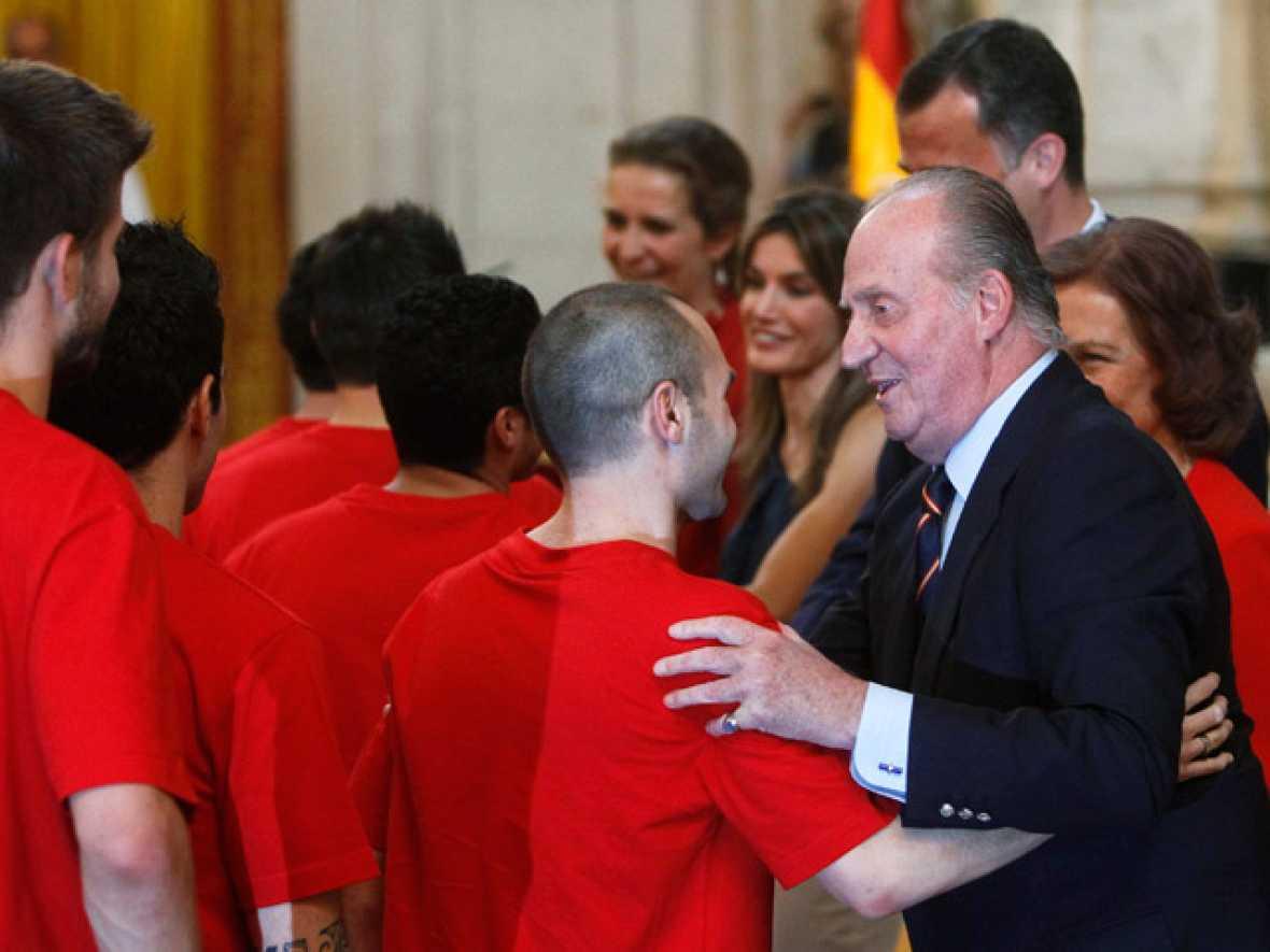 La selección española ha recibido la felicitación de la Familia Real