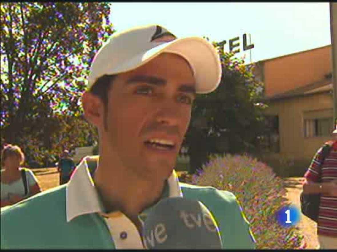 Alberto Contador avisó el día previo a la etapa del aeródromo que si se presentaba la ocasión, intentaría ganar