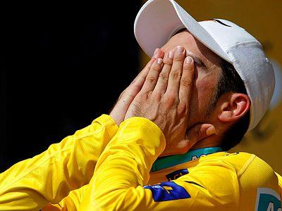 """El virtual ganador del Tour 2010 se ha mostrado muy emocionado a su llegada a la meta en Pauillac y ha roto en lágrimas, al recordar el """"gran trabajo"""" que ha hecho """"para llegar hasta aquí"""". Respecto a la etapa, ha indicado que había llegado """"a dar po"""