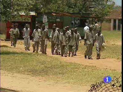 En una prisión de Kenia se encuentran muchos acusados de piratería en el Índico.