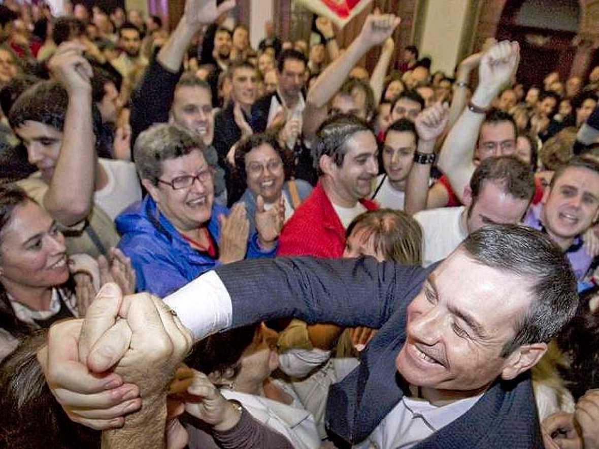 Primeras palabras de Tomás Gómez tras ganar las primarias socialistas de Madrid