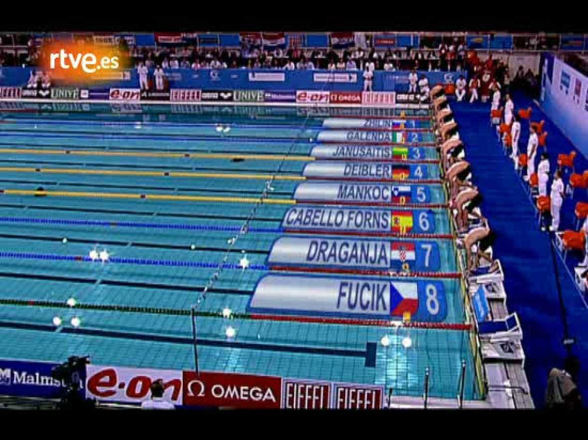 Alan Cabello ganó su tercera medalla consecutiva en los Campeonatos de Europa de piscina corta en la final de los 100 estilos. El nadador de Barcelona tocó en la tercera posición tras el alemán Markus Deibler