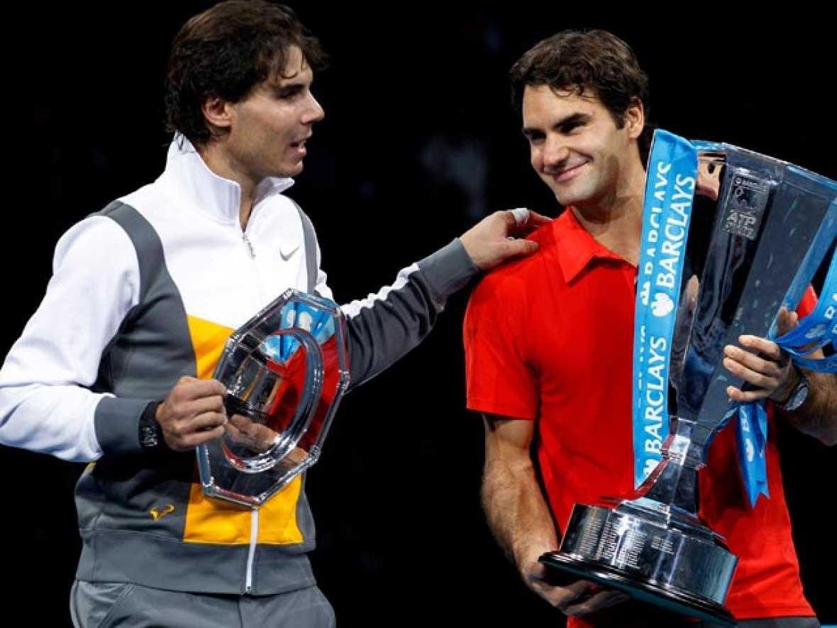 Roger Federer batió a Rafa Nadal en una disputada final de la Copa Masters, logrando su quinta victoria en la final del torneo
