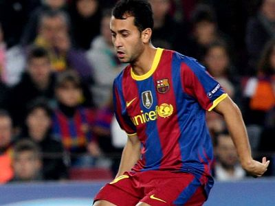 El canterano marca el gol definitivo del Barça ante el Rubin al rematar un contragolpe con pase de Adriano