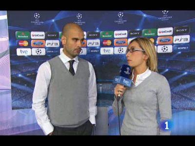 El entrenador del Barça quiso restar euforia al partido de los canteranos ante el Rubin y darles motivación de cara al futuro