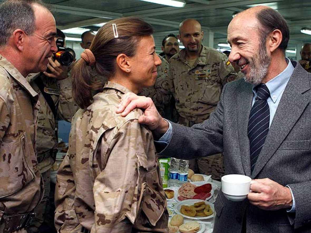 El vicepresidente primero, Alfredo Pérez Rubalcaba, ha viajado por sorpresa Afganistán.