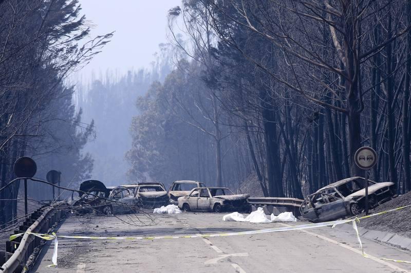 Forest fire in Pedrogao Grande, Portugal