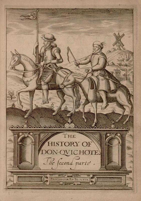 Quijote impreso en Londres en 1620. BNE.
